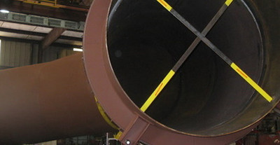 96 inch duct work for a sulphuric acid plant