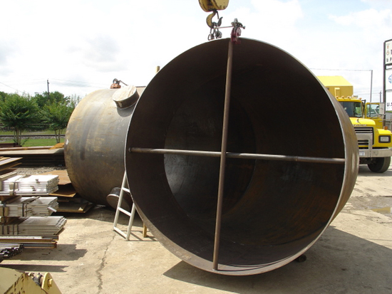 Large carbon steel duct work