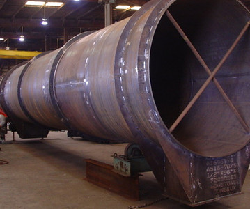 Large diamter duct work during fabrication