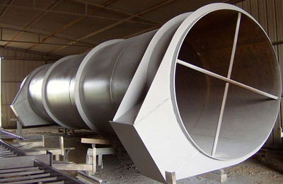 Large diameter duct work for ammonia plant