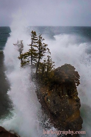 Gales of November at Tettegouche State Park, MN. Capturing this shot was no easy task.  With high winds and rainy conditions standing out on this point was dangerous!