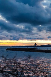Blue hour at the lighthouse in Two Harbors, MN