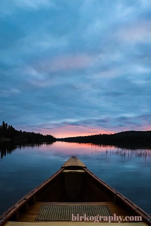 Sunrise canoe paddle on Pike Lake, MN