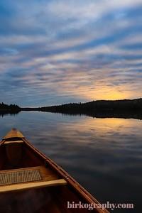 Sunrise canoe paddle on Pike Lake, MN