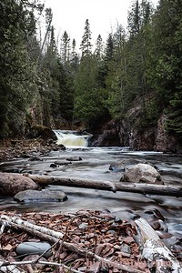 It was a heck of a hike off trail to get to this spot off the pincushion trail system in Grand Marais, MN