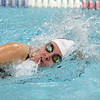 Groton Dunstablesenior ESarah Figeroua does the freestyle stroke during their meet against Westford Academy on Thursday afternoon. SUN/JOHN LOVE