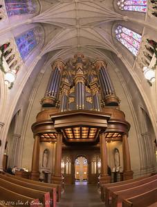 Duke Chapel through a Fisheye lens 12-26-16
