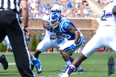 Shaquille Powell with the run / Duke Blue Devils / Photo by Chris Summerville