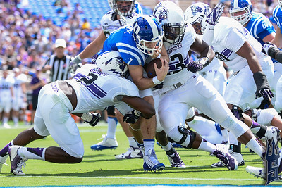 Thomas Sirk with the TD run / Duke Blue Devils / Photo by Chris Summerville