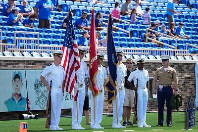 Pregame ceremonies / Duke Blue Devils / Photo by Chris Summerville