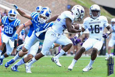 Northwestern with the interception / Duke Blue Devils / Photo by Chris Summerville