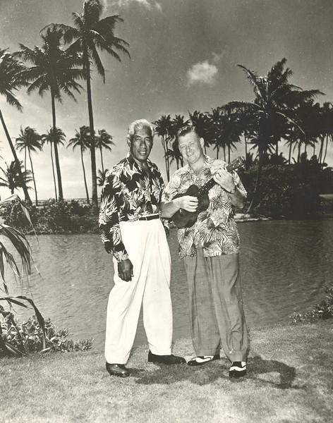 1950s Duke Kahanamoku and Arthur Godfrey
