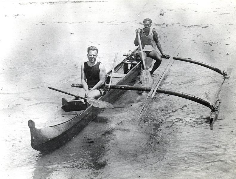 1915 Jack London and Duke Kahanamoku