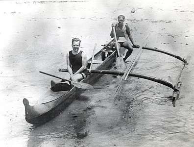 1915 Jack London and Duke Kahanamoku