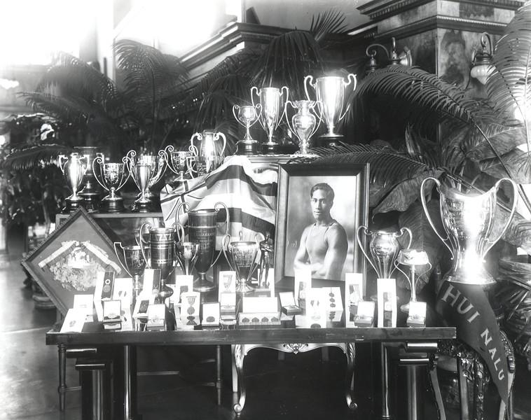 1950s Duke Kahanamoku medals and cups