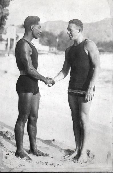 1915 Duke Kahanamoku and Norman Ross
