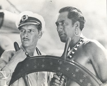 1929 Duke Kahanamoku and Ronald Coleman