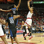 Asia Durr released a shot over the outstretched arms of Duke\'s Azura Stevens late in the third quarter.