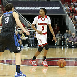 Taja Cole looked to set up a play early in the fourth quarter as Duke\'s Angela Salvadores  guarded the 3-Ptr. line.
