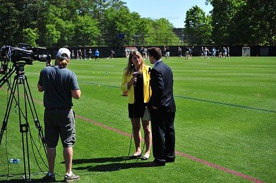 Maddy Salamone played lacrosse for Duke and graduated in 2013. She now attends UNC Law School and does color commentary for ESPN when she can.