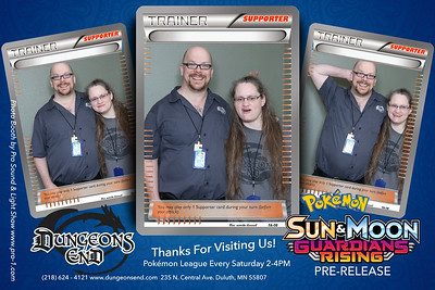 Dungeons End Pokemon Prerelease Photo Booth in Duluth