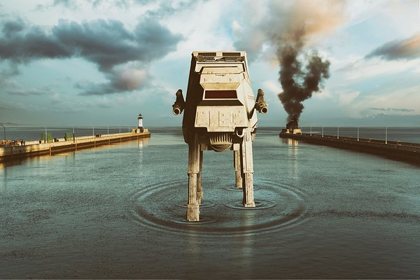 AT-AT in the Canal