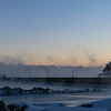 Sea Smoke at Sunrise