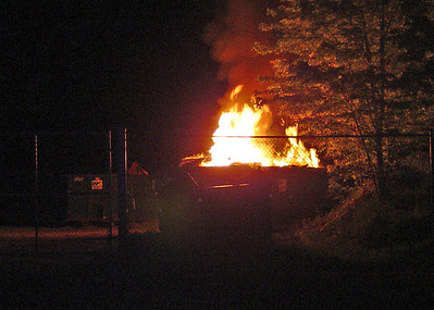 Budd Lake Village Green Maint. Yard Dumpster Fire.