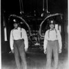 Lawrence Washington and Andrias Davis stand inside Engine Company No. 30, Los Angeles Fire Department (LAFD)