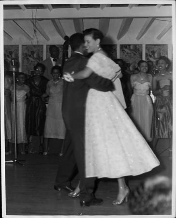 Edythe Carr dancing with a man at the Club Alabam Social Club