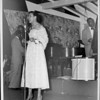Edythe Carr singing at the Club Alabam with a bass player in the background