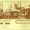 Streetcar at Vernon & Central Avenues (Los Angeles) depicted on a printed document