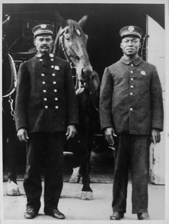 Lieutenant George Bright and Edward Bowan of Engine Company No. 30