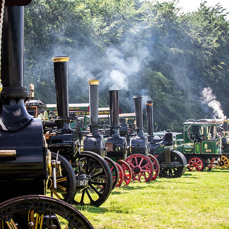 Traction engine line up (square)