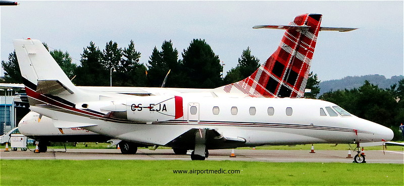 CS-EJA Ce560XL Citation XLS @ Dundee Airport (EGPN)