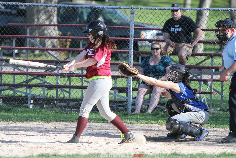 Action during the Dundee vs. Bloomfield softball game, May 6, 2015.