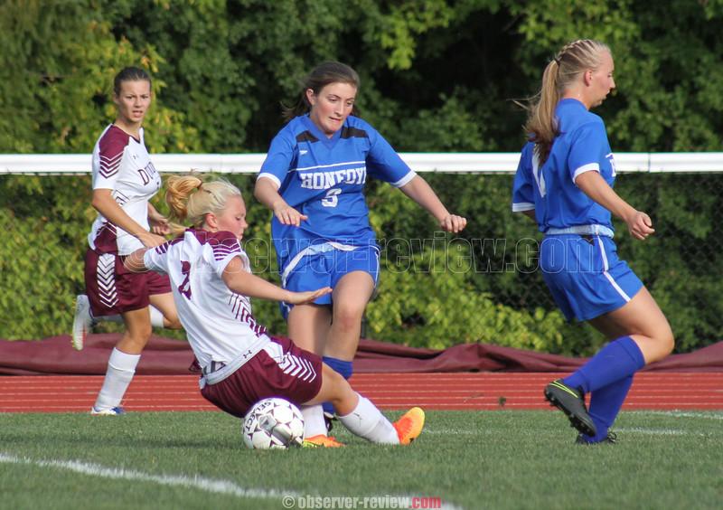 Dundee Girls Soccer 9-28-16.