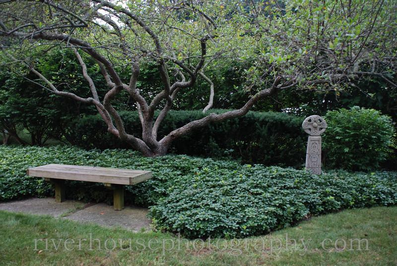 Church garden, Saugatuck, Michigan.