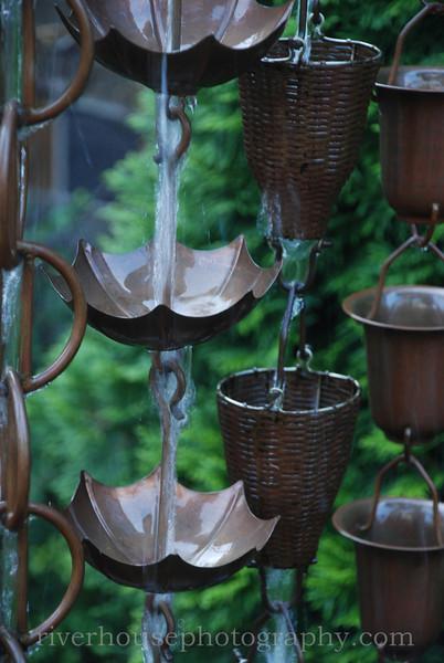 Rain chains.