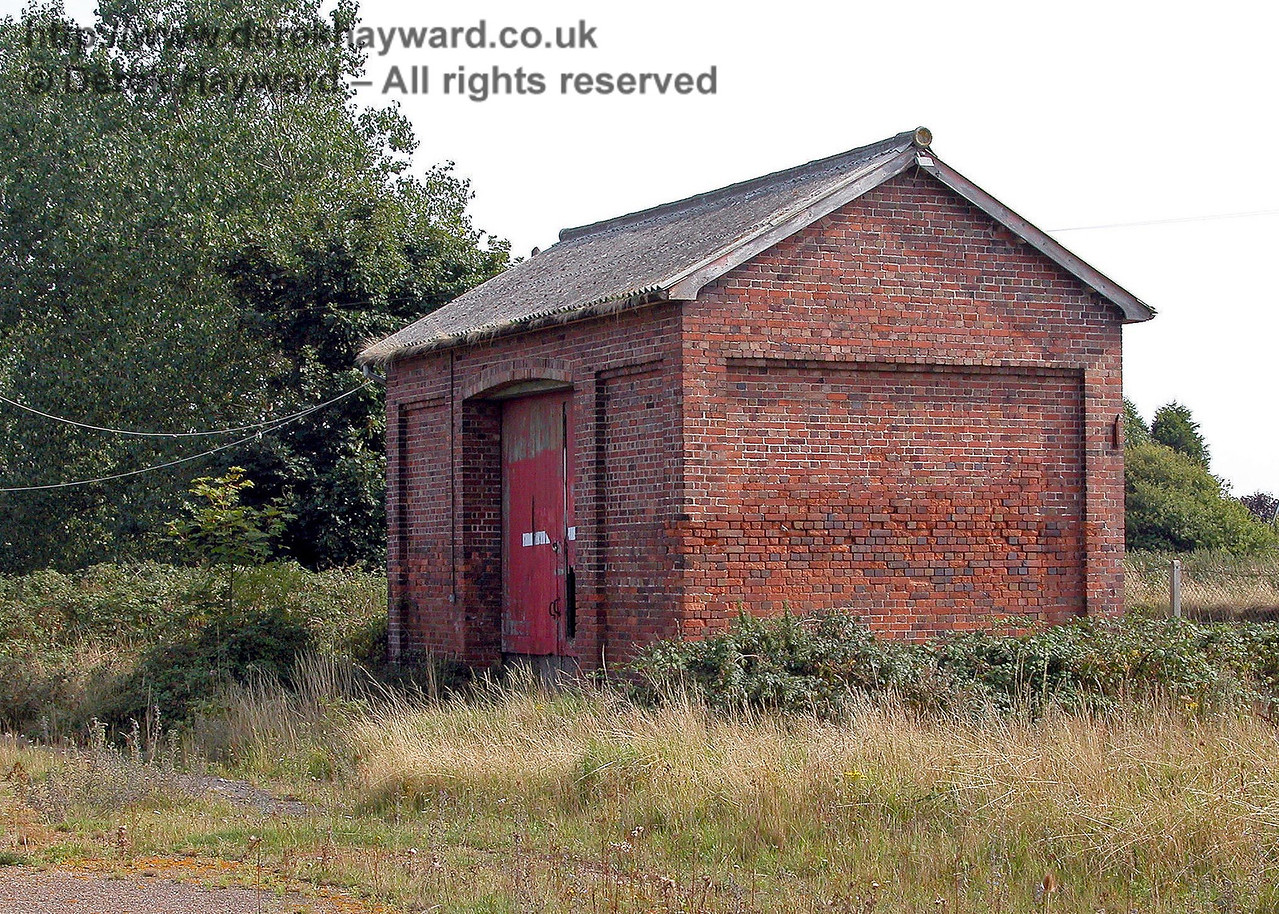 A closer view of Lydd Town goods shed taken on 02.09.2005.  This is the railway side of the building and the siding was in the foreground.