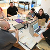 Dungeons & Dragons is becoming popular again and on Saturdays at the Stevens Memorial Library in Ashburnham you can play with Dungeon Master Zachary Sager. SAger sits on the far right of the picture and starting to his left is Neil Dekker, his son Alex, Megan Cleveland, Steven Hill, his son Lucas, and his wife Jessica. SENTINEL & ENTERPRISE/JOHN LOVE