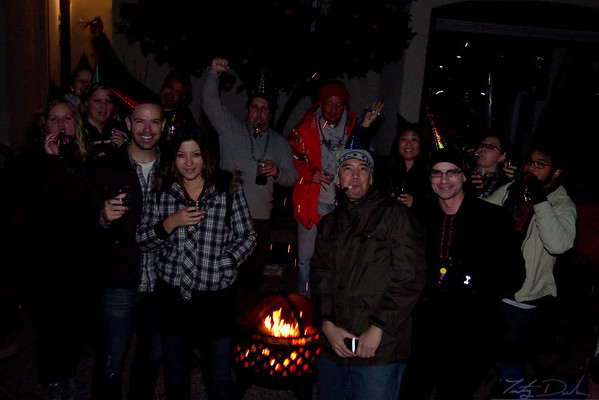 New Years Eve 2010!  Bonfire, Noise makers and Good friends!