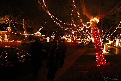 Walking through the lights in Torrance
