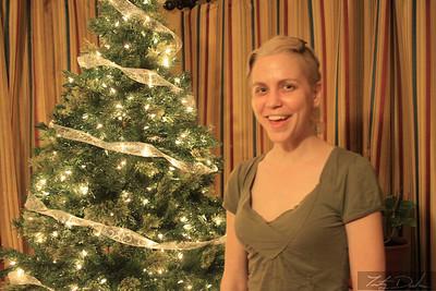Sister Paula stoked on the tree