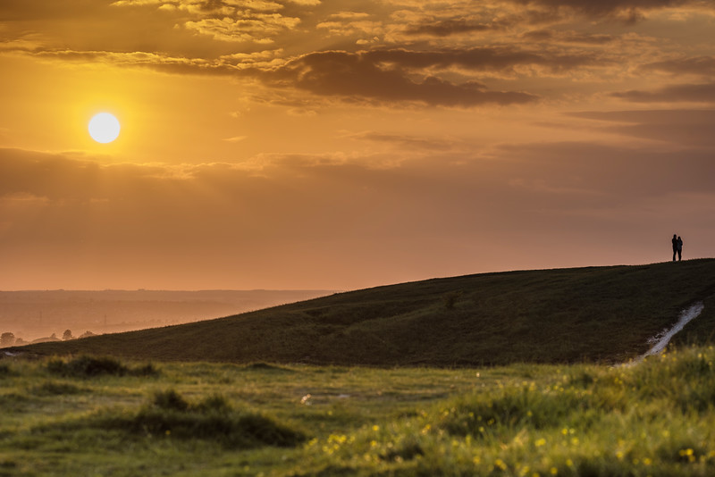 Sunset, Dunstable Downs, Bedfordhire