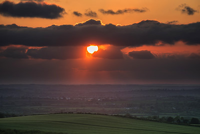 Dunstable Downs, Sunset, Bedfordshire