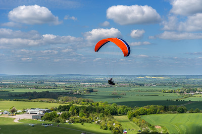 Hang Glider, Dunstable Downs,  Bedfordshire