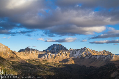 First snow -  Castle Peak and Warm Springs Basin, White Cloud Mountains.