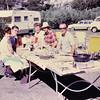 September 1970 camping - clockwise: Zeta & Farrell Johnson, Brad, Lucille & Don Olsby, Carl