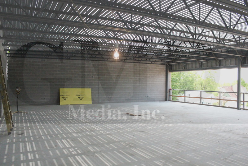 The future wrestling room on the 2nd level of the high school